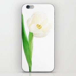 white tulip iPhone Skin