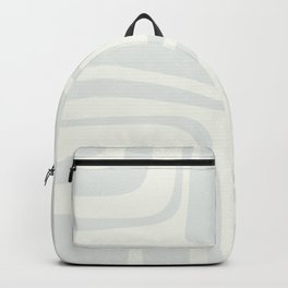 Palm Springs Mid Century Modern Abstract Pattern in Barely-There Light Silver Gray and Off-White Backpack