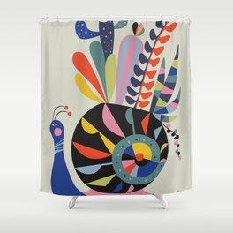 snail succulents Shower Curtain