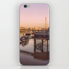 Cityscape London In Winter iPhone Skin