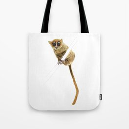 Mouse Lemur Perched on a Branch Tote Bag