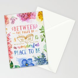 Between the pages Stationery Cards