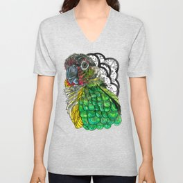 Green Cheeked Conure Unisex V-Neck