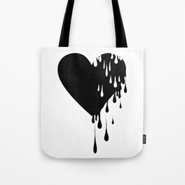 Bleeding Black Heart Tote Bag