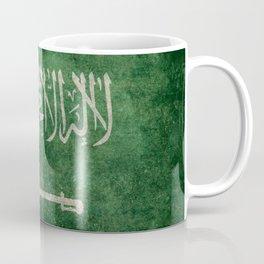 Flag of  Kingdom of Saudi Arabia - Vintage version Coffee Mug