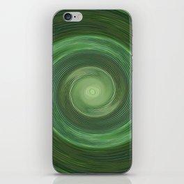 Green swirl iPhone Skin