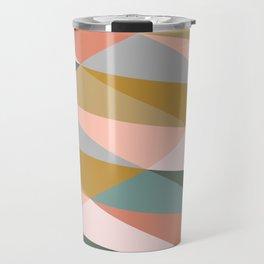 Earthy Diagonals Travel Mug