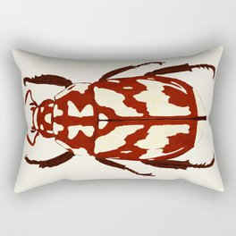Red beetle insect Rectangular Pillow