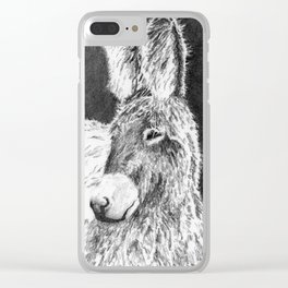 Hairy Donkeys Clear iPhone Case