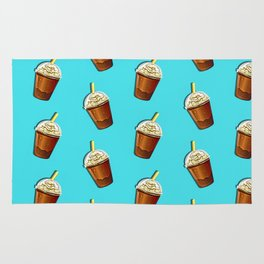 Iced Coffee To Go Pattern Rug