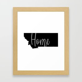 Montana-Home Framed Art Print