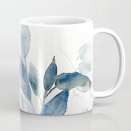 Blue Leaves Watercolor Coffee Mug