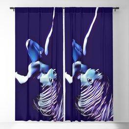 4565-KMA Blue Nude on Back Leg Up Hair Down Blackout Curtain