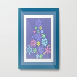 Colorful Snowflake Christmas Tree  Metal Print