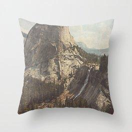 Nevada Falls Yosemite Throw Pillow
