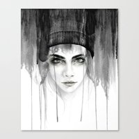 cara Canvas Prints featuring Cara by Erin Marie Illustration