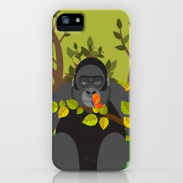 Hypnotized by butterfly iPhone Case