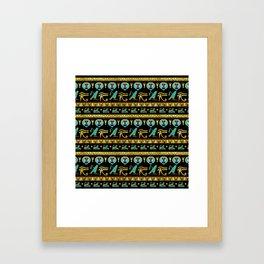 Egyptian  Ornament Symbols Pattern Framed Art Print