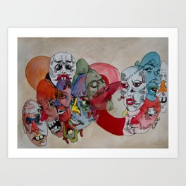 Crowded Room Mood Art Print