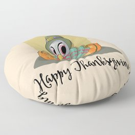 Cute Baby Turkey wth Pumpkins Floor Pillow