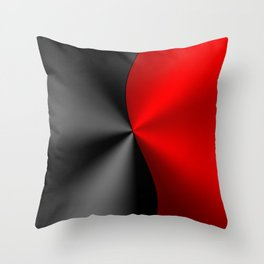 Slick masculine black and red metallic design Throw Pillow