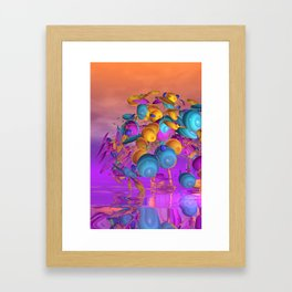 violet and orange and turquoise Framed Art Print