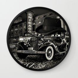 Don Cadillacchio Black and White Wall Clock