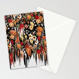 Free Falling, melting floral pattern Stationery Cards