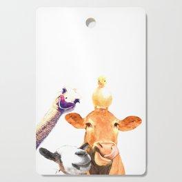 Farm Animal Friends Cutting Board
