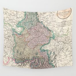 Vintage Map of Bavaria Germany (1799) Wall Tapestry