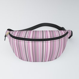 gray and pink striped . Fanny Pack