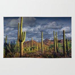 Saguaro Cactuses in Saguaro National Park Rug