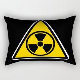 radioactive warning triangle Rectangular Pillow