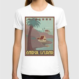 Ember Island Travel Poster T-shirt