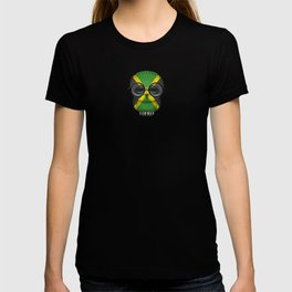 Baby Owl with Glasses and Jamaican Flag T-shirt