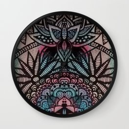 Lottus flowers and mandalas Wall Clock