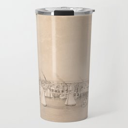 Vintage Pictorial View of Jersey City NJ (1866) Travel Mug