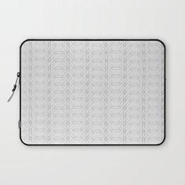 Grey Spiro Pattern Laptop Sleeve