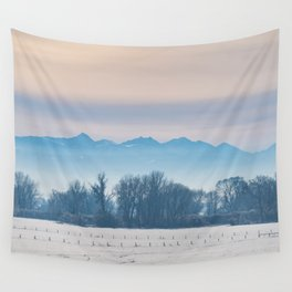 Spanish Peaks Fog Wall Tapestry