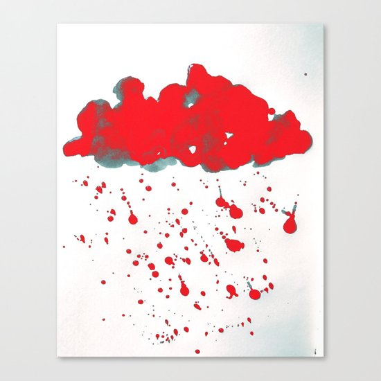 Red Red Clouds Canvas Print