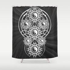 Seven Yin Yang Symmetry Balance Energy Shower Curtain