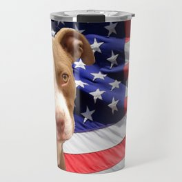 American Pitbull puppy Travel Mug