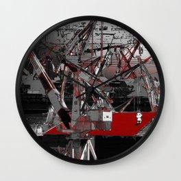 A shipyard Wall Clock