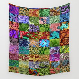 Bacteria Montage Wall Tapestry