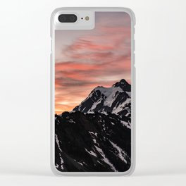 Pink Sky - Cascade Mountains - Nature Photography Clear iPhone Case
