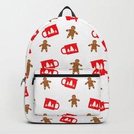 Xmas Gingerbread Man and Hot Cocoa Backpack