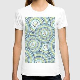 Abstract Circle Royal Aqua Tiffany blue Teal Lime Green Modern T-shirt