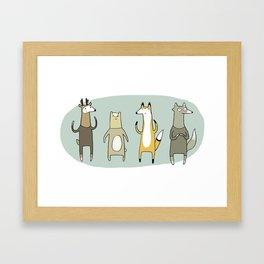 Forest Fauna Framed Art Print