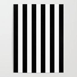 Parisian Black & White Stripes (vertical) Poster