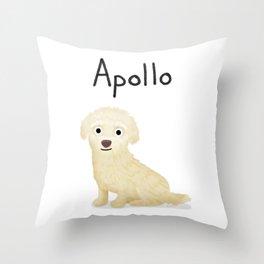 "Custom Dog Art ""Apollo"" Throw Pillow"